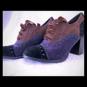 RESTRICTED brand,laced, steam punk heeled shoes.